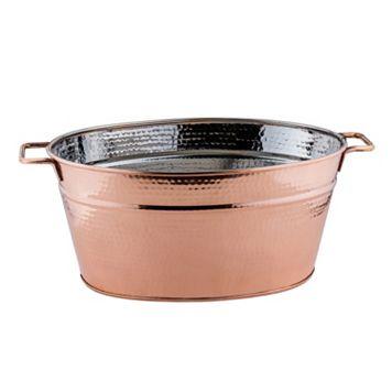 Old Dutch Hammered Copper Oval Beverage Tub