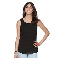 Women's ELLE™ Crinkle Mixed-Media Tank