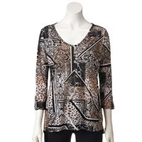 Women's Dana Buchman Printed High-Low Top