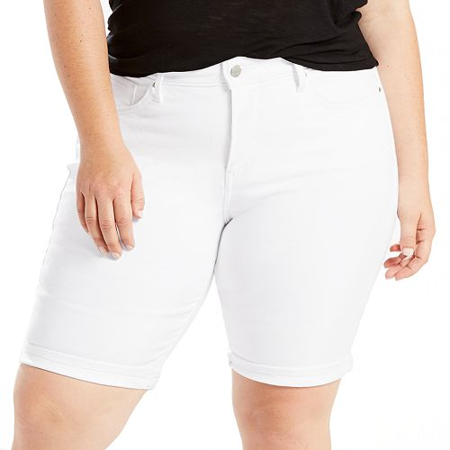 80b07a5f Plus Size Levi's® Perfectly Shaping Jean Bermuda Shorts