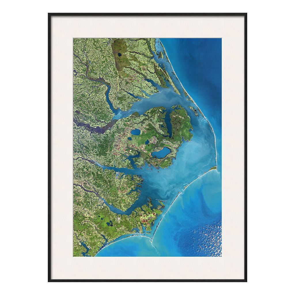 Art.com Outer Banks, North Carolina From Space Framed Wall Art