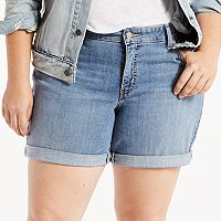Plus Size Levi's® Cuffed Jean Shorts