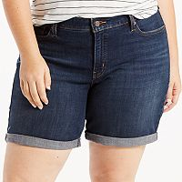 Plus Size Levi's® Cuffed Jean Shorts