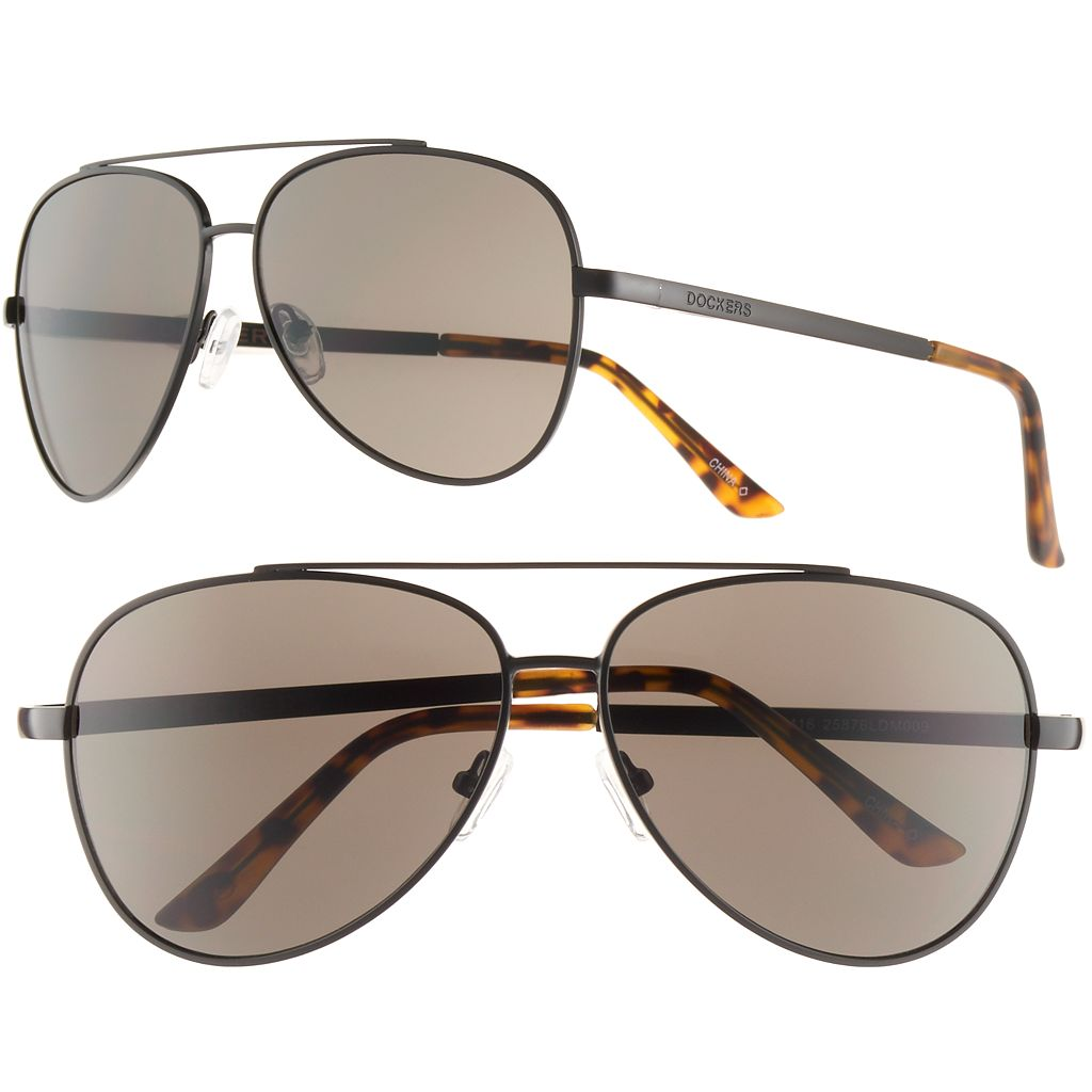 Men's Dockers Matte Aviator Sunglasses
