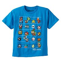 Boys 8-20 Super Mario Bros. Hero Line-Up Tee