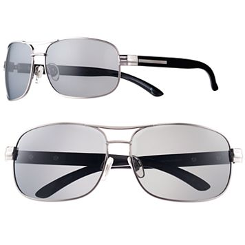 Men's Dockers Polarized Silver Navigator Sunglasses
