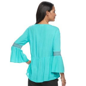 Petite Kate and Sam Embroidered Gauze Top