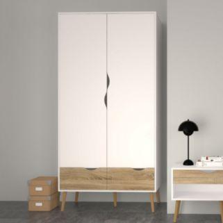 Diana Two-Tone 2-Door Wardrobe Closet