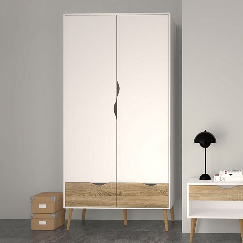 Diana Two-Tone 2-Door Wardrobe Closet