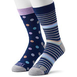Men's Funky Socks 2-pack Multi Dot Socks