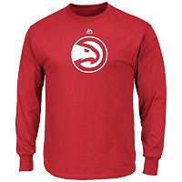 Men's Majestic Atlanta Hawks Logo II Long-Sleeve Tee