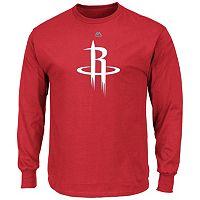 Men's Majestic Houston Rockets Logo II Long-Sleeve Tee