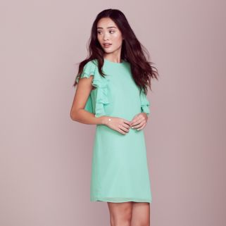 LC Lauren Conrad Dress Up Shop Collection Ruffle Shift Dress - Women's