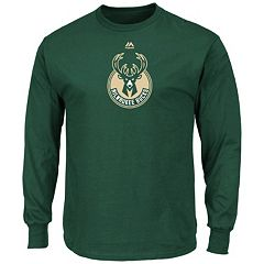 Men's Majestic Milwaukee Bucks Logo II Long-Sleeve Tee