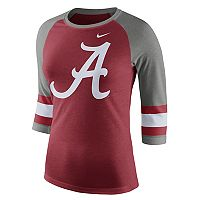 Women's Nike Alabama Crimson Tide Striped Sleeve Tee