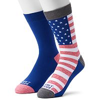 Men's Funky Socks 2-pack Flag Crew Derby Socks