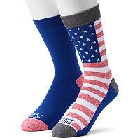 Men's Funky Socks 2-pack Flag Crew Derby Socks