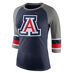 Women's Nike Arizona Wildcats Striped Sleeve Tee
