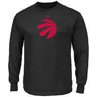 Men's Majestic Toronto Raptors Logo II Long-Sleeve Tee