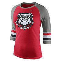 Women's Nike Georgia Bulldogs Striped Sleeve Tee