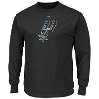 Men's Majestic San Antonio Spurs Logo II Long-Sleeve Tee