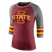 Women's Nike Iowa State Cyclones Striped Sleeve Tee