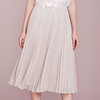 LC Lauren Conrad Dress Up Shop Collection Pleated Metallic Midi Skirt - Women's