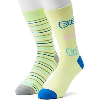 Men's Funky Socks 2-pack Lucky Tie Derby Socks
