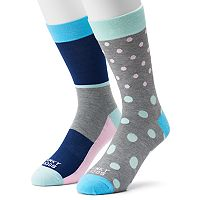 Men's Funky Socks 2-pack Pastel Dots Derby Socks