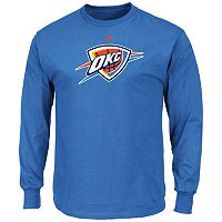 Men's Majestic Oklahoma City Thunder Logo II Long-Sleeve Tee