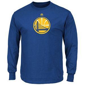 Men's Majestic Golden State Warriors Logo II Long-Sleeve Tee