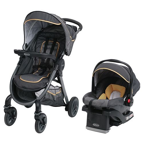 Graco FastAction Fold 2.0 Travel System with SnugRide Click Connect 35