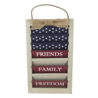 """Celebrate Americana Together """"Friends Family Freedom"""" Shutter Wall Decor"""