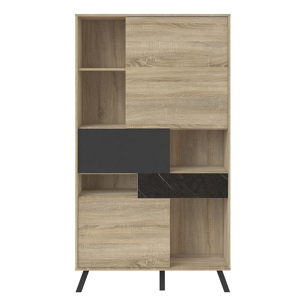Nashville Two-Tone 3-Door Bookshelf