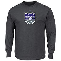 Men's Majestic Sacramento Kings Logo II Long-Sleeve Tee