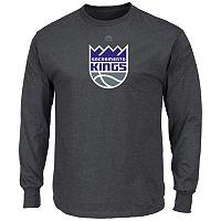 Men's Majestic Sacramento Kings Logo II Long-Sleeve Tee