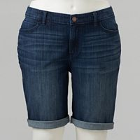 Plus Size Simply Vera Vera Wang Faded Jean Bermuda Shorts