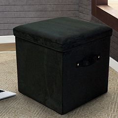 Casual Home Folding Padded Storage Ottoman