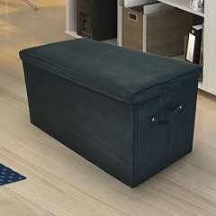 Casual Home Folding Padded Storage Bench