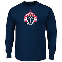 Men's Majestic Washington Wizards Logo II Long-Sleeve Tee
