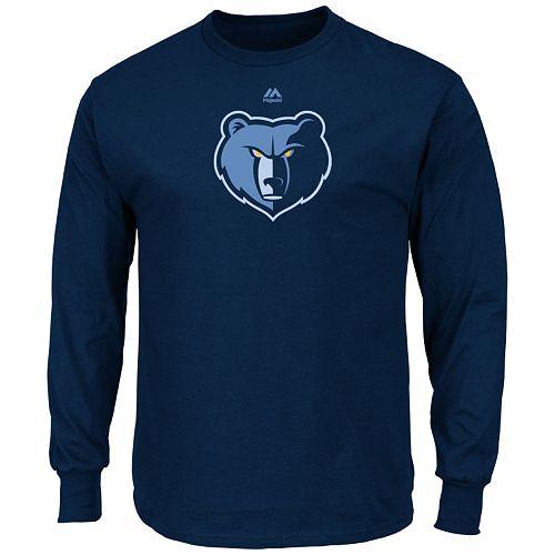 Men's Majestic Memphis Grizzlies Logo II Long-Sleeve Tee