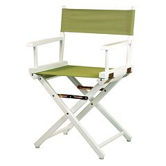 Casual Home 18 in White Finish Director's Chair