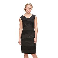 Women's Jax Spliced Faux-Leather Sheath Dress