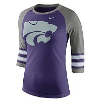 Women's Nike Kansas State Wildcats Striped Sleeve Tee