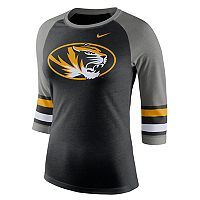 Women's Nike Missouri Tigers Striped Sleeve Tee