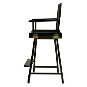 """Casual Home 24"""" Black Finish Director's Chair"""