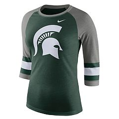 Women's Nike Michigan State Spartans Striped Sleeve Tee