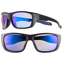 Men's Dockers Polarized Mirror Wrap Sunglasses
