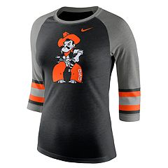 Women's Nike Oklahoma State Cowboys Striped Sleeve Tee