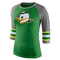 Women's Nike Oregon Ducks Striped Sleeve Tee